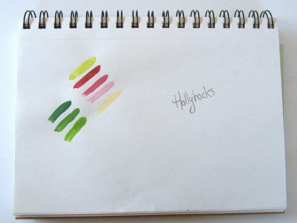 Hollyhocks Palette