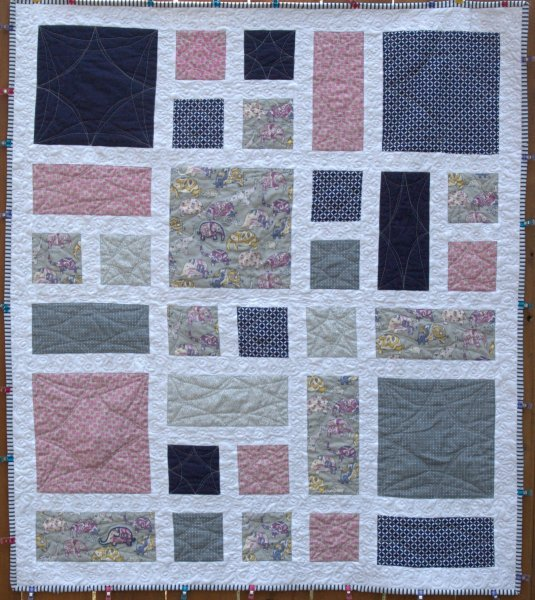Laurel and Pine Elephant Baby Quilt