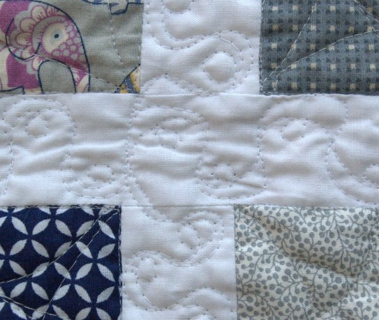 Laurel and Pine Elephant Quilt Close-up