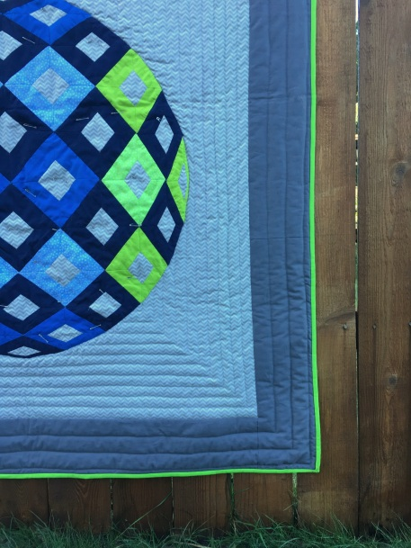 Laurel and Pine Champions Quilt Binding