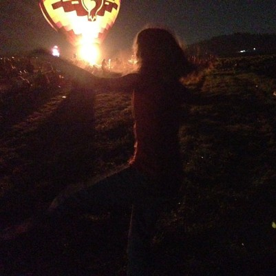 Laurel and Pine Balloon Glow Dancing