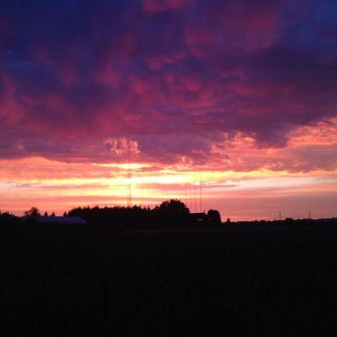 Sunset near cathcart