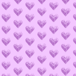 Two-toned violet hearts