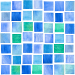 Watercolor Squares Pool Tiles