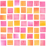 Watercolor Squares Sherbet
