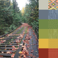 Bridge in Fall Palette and Bundle